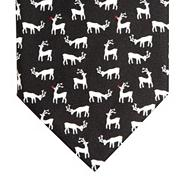 Black tiled reindeer Christmas tie