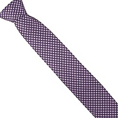 Thomas Nash - Purple tonal square tie