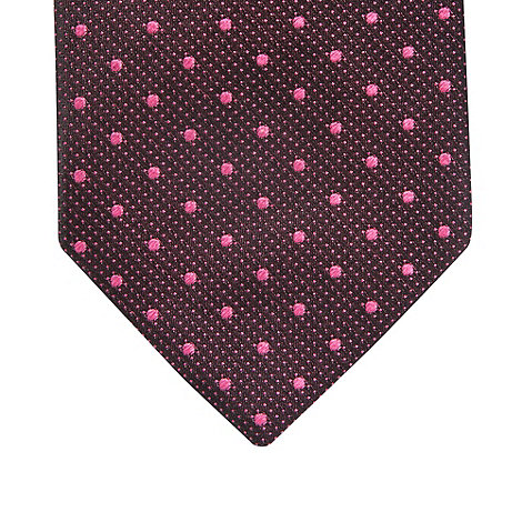 Thomas Nash - Dark pink spotted silk tie