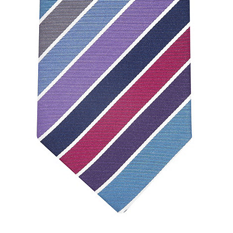 Thomas Nash - Purple multi striped silk tie