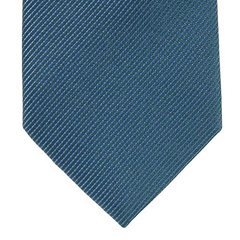 Thomas Nash - Dark turquoise textured silkslim tie