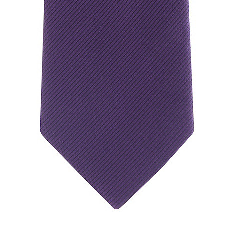 Thomas Nash - Purple textured silk slim tie