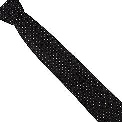 Black Tie - Black metallic spotted skinny tie