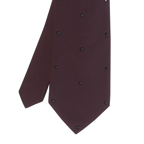Black Tie - Maroon skinny diamante studded tie