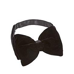 Black Tie - Black velvet bow tie