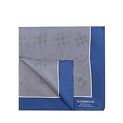 Hammond & Co. by Patrick Grant - Polka dot border pocket square