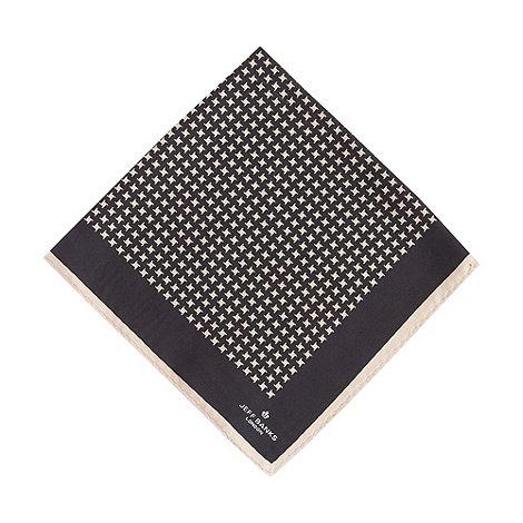 Jeff Banks - Designer black dogtooth pocket square