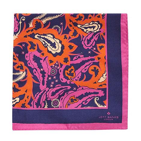 Jeff Banks - Designer pink paisley handkerchief