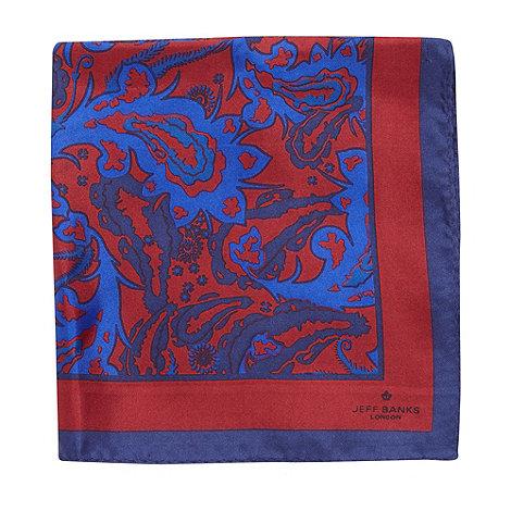 Jeff Banks - Designer blue paisley handkerchief