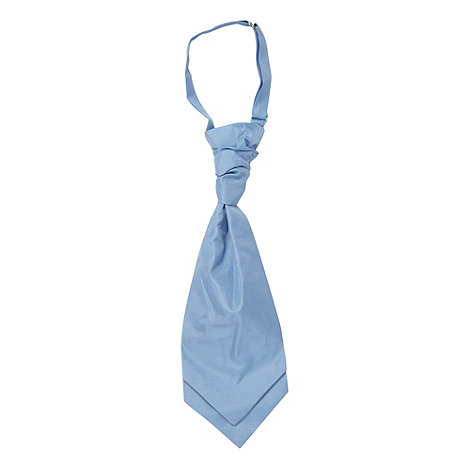 Black Tie - Light blue woven cravat