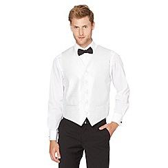 Black Tie - Silver twill paisley print jacquard waistcoat