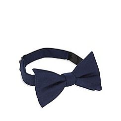 Hammond & Co. by Patrick Grant - Designer blue textured bow tie