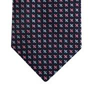 Pink silk cross tie