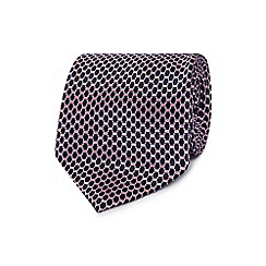 Osborne - Pink oval geometric silk tie