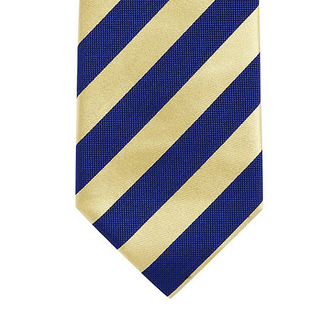 Osborne - Navy diagonal striped silk tie