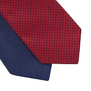 Thomas Nash - Pack of two dark red spotted ties