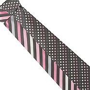 Thomas Nash - Pack of two grey bias stripe and smarties ties