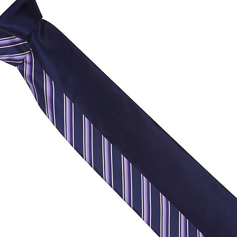 Thomas Nash - Pack of two purple stripe and plain ties