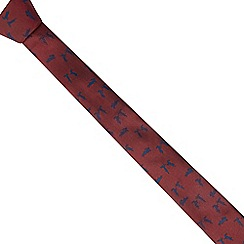 Red Herring - Red rabbit jacquard skinny tie