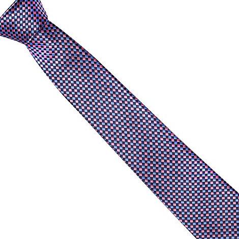 Jeff Banks - Designer pink bold square silk tie