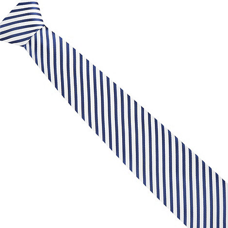 Jeff Banks - Designer navy diagonal jacquard striped tie