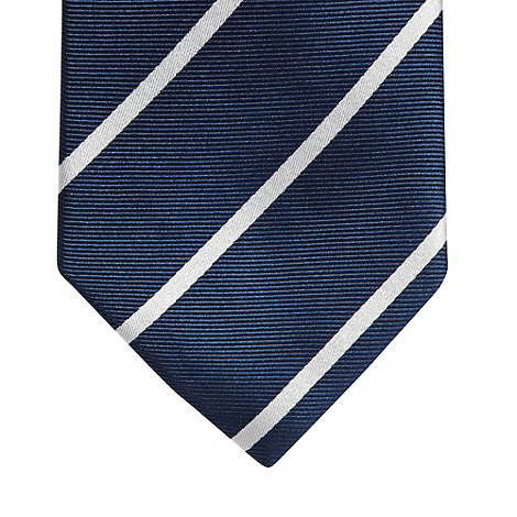 Jeff Banks - Designer navy striped fine silk tie