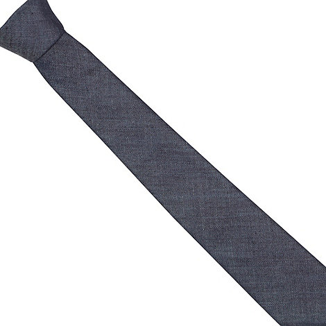 Red Herring - Blue chambray skinny tie