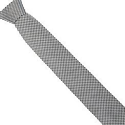 J by Jasper Conran - Designer black geometric silk tie
