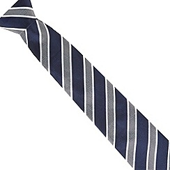 J by Jasper Conran - Designer navy wide striped silk tie