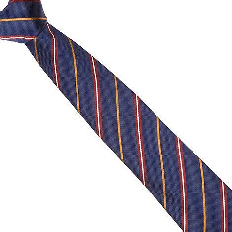 Hammond & Co. by Patrick Grant - Designer navy striped silk tie