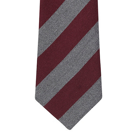 Hammond & Co. by Patrick Grant - Designer wine woven striped tie