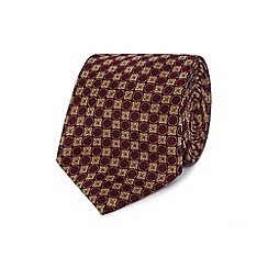 Hammond & Co. by Patrick Grant - Dark red tile patterned tie