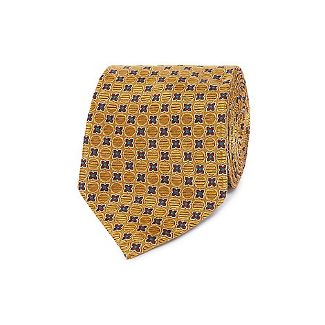Hammond & Co. by Patrick Grant - Designer mustard geometric jacquard tie