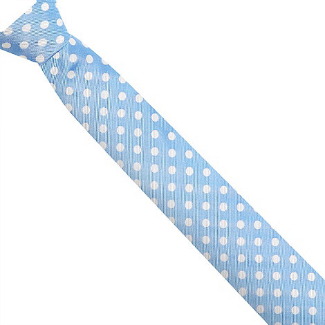 Hammond & Co. by Patrick Grant - Designer light blue polka dot silk tie
