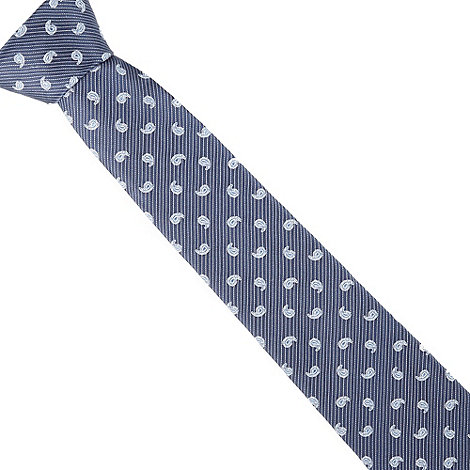 Hammond & Co. by Patrick Grant - Designer navy striped paisley tie