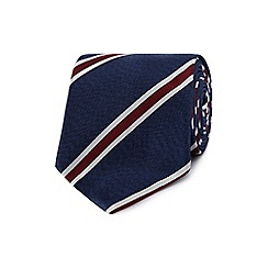 Hammond & Co. by Patrick Grant - Designer blue textured diagonal striped tie