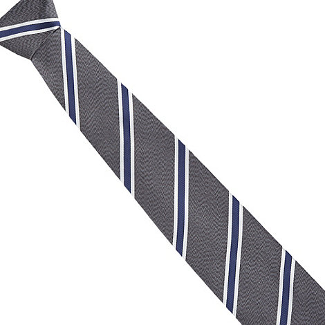 Hammond & Co. by Patrick Grant - Designer grey diagonal striped tie