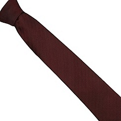 Hammond & Co. by Patrick Grant - Designer dark red silk herringbone tie