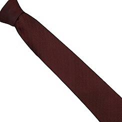 Hammond & Co. by Patrick Grant - Designer dark red silk herringbone tie