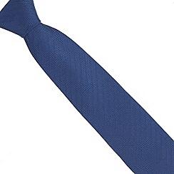 Hammond & Co. by Patrick Grant - Designer navy herringbone silk tie