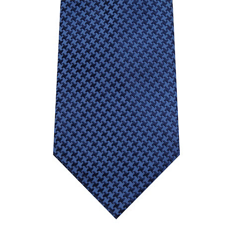 Hammond & Co. by Patrick Grant - Designer blue dogtooth silk tie
