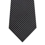 Designer grey dogtooth silk tie