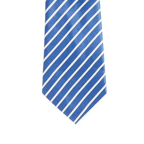 J by Jasper Conran - Designer bright blue striped silk tie