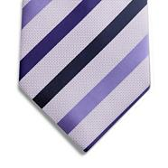 Purple dot striped tie