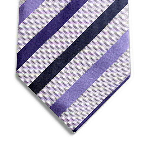 Thomas Nash - Purple dot striped tie