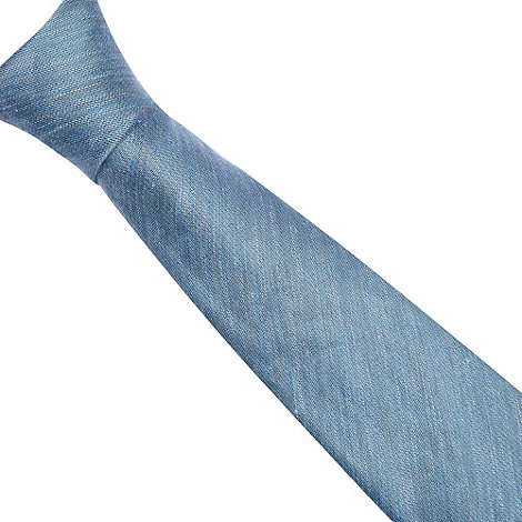 Hammond & Co. by Patrick Grant - Designer light blue speckled silk blend tie