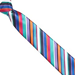 Thomas Nash - Green multicoloured striped tie