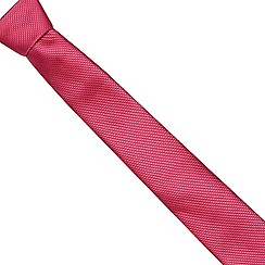 Thomas Nash - Pink textured diamond slim tie