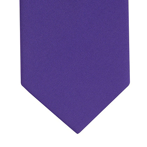 Thomas Nash - Dark purple plain tie
