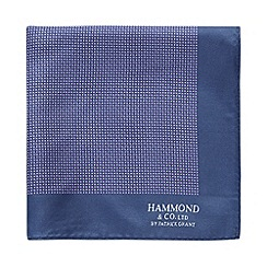 Hammond & Co. by Patrick Grant - Designer purple mini geo pocket square